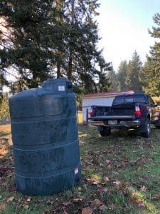 500 gal. water tank